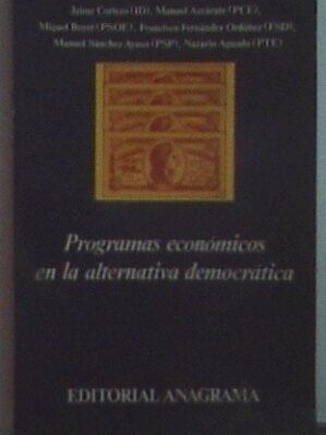 Programas Economicos En La Alternativa Democratica