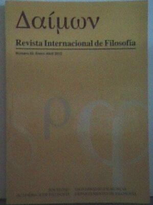 Daimon. Revista internacional de filosofía. Número 55 (Enero-Abril 2012)