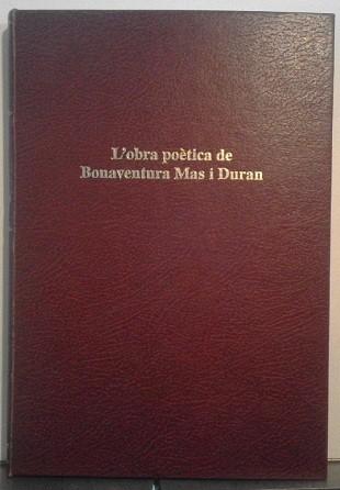 L'obra poètica de Bonaventura Mas i Duran