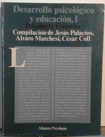 Desarrollo Psicológico Y Educación, Tomo I