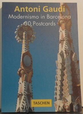 Antoni Gaudi Postcard Book