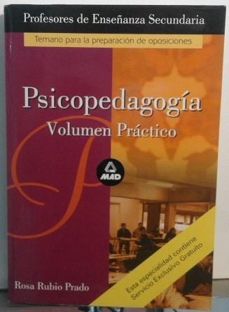 Psicopedagogía. Volumen Práctico