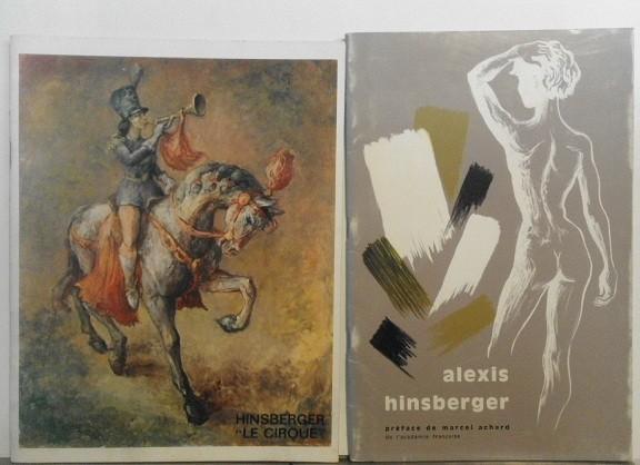 Dos catálogos de exposiciones firmados y dedicados por el autor
