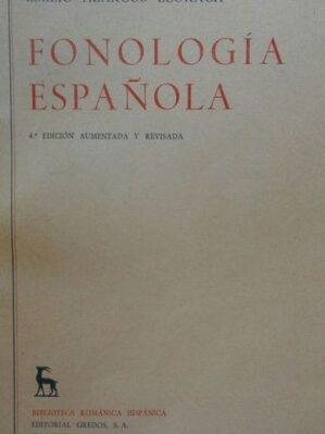 Fonología española (4ª edición, 1965)