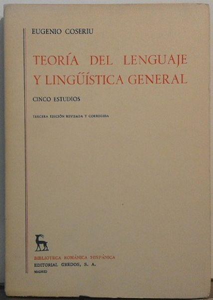 Teoría Del Lenguaje Y Lingüística General (ejemplar intonso)