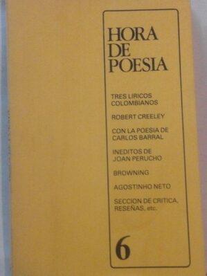 Revista Hora de poesía, nº 6 (nov-dic 1979)