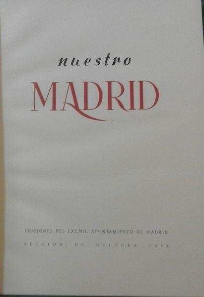 Nuestro Madrid (1958, sin sobrecubierta)