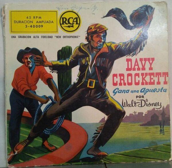 Davy Crockett gana una apuesta (cuento-cómic con single 45 rpm vinilo rojo de 1958)
