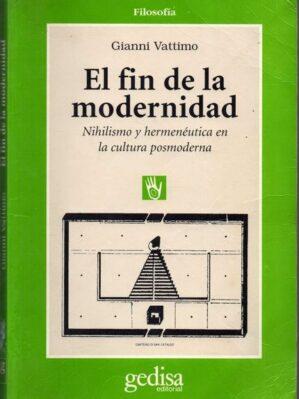 El Fin De La Modernidad (subrayado)