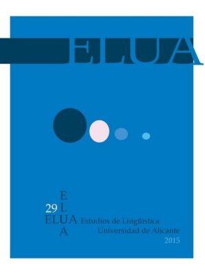 Estudios de lingüística - Universidad de Alicante