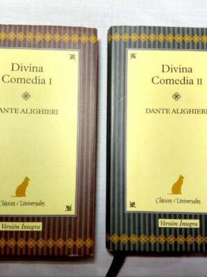 Divina Comedia I & II (Nuevo y Completo) Edición de lujo con tapa dura, bordes dorados y marcalibro de tela