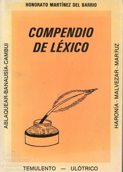 Compendio De Léxico