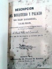 Descripción del monasterio y palacio de San Lorenzo