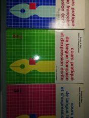 Cours Practique De Langue Française Et D'expression Ecrite. Tres tomos